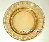Del Webb Hotels - Molded imprint Glass Ashtray