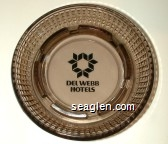 Del Webb Hotels - Black imprint Glass Ashtray