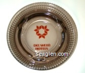 Del Webb Hotels - Orange imprint Glass Ashtray