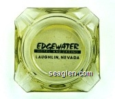 Edgewater Hotel and Casino, Laughlin, Nevada - Black imprint Glass Ashtray
