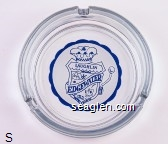 Laughlin, Edgewater, Hotel & Casino - Blue on white imprint Glass Ashtray