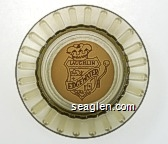 Laughlin Nevada, Edgewater Hotel & Casino - Brown on white imprint Glass Ashtray