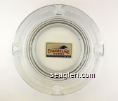 Evangeline Downs Racetrack & Casino - Red and blue on white imprint Glass Ashtray
