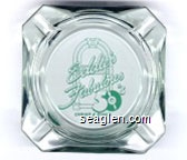 Eddie's Fabulous 50's Casino & Diner, Reno, Nevada - Green imprint Glass Ashtray