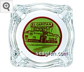 El Capitan Restaurant, Restaurant El Capitan, Hawthorne, Nevada - Red on green imprint Glass Ashtray