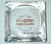 el capitan lodge & casino, Hawthorne, Nev. - Red imprint Glass Ashtray