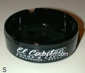 El Capitan Lodge & Casino, Hawthorne, Nevada - White imprint Glass Ashtray