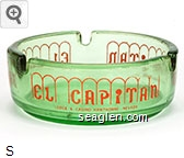 El Capitan Lodge & Casino, Hawthorne, Nevada - Red imprint Glass Ashtray