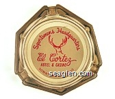 Sportsmans Headquarters, El Cortez Hotel & Casino, Downtown Las Vegas - Red on white imprint Glass Ashtray