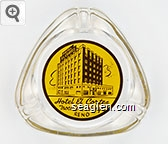 Hotel El Cortez, Trocadero Lounge, Reno - Brown on yellow imprint Glass Ashtray
