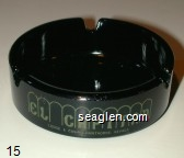 El Capitan Lodge & Casino, Hawthorne, Nevada - Green imprint Glass Ashtray
