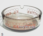 El Capitan, Lodge & Casino Hawthorne, Nevada - Red imprint Glass Ashtray