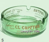 Barney's New El Capitan Lodge & Casino, Hawthorne, Nevada, 24 Hour Restaurant, Sportsman's Headquarters, Hawthorne, Nevada U.S. HWY. 95 - Red imprint Glass Ashtray