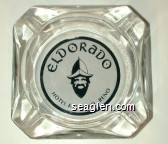 Eldorado Hotel & Casino - Reno - White on black imprint Glass Ashtray