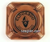 Eldorado, Toll Free 800-648-3076, Hotel & Casino Reno - Black on white imprint Glass Ashtray
