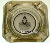 Toll Free 800-648-5966, Eldorado, Eldorado, Eldorado, Hotel - Casino, Reno, Nevada, 702-786-5700 - Maroon on white imprint Glass Ashtray