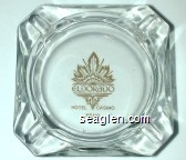 Eldorado Hotel Casino, Reno - Gold imprint Glass Ashtray