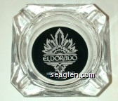 Eldorado Hotel Casino, Reno - White on black imprint Glass Ashtray