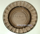 Eldorado Hotel Casino Downtown Reno - Molded imprint Glass Ashtray