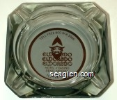 Toll Free 800-648-5966, Eldorado, Eldorado, Eldorado, Hotel - Casino, Reno, Nevada, 702-786-5700 - Brown on white imprint Glass Ashtray