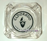 Eldorado Hotel & Casino - Reno - Black on white imprint Glass Ashtray