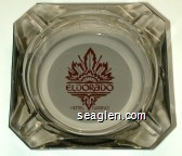 Eldorado, Hotel Casino, Reno - Maroon on white imprint Glass Ashtray