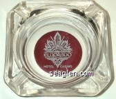 Eldorado, Hotel Casino, Reno - White on maroon imprint Glass Ashtray