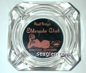 Paul Perry's Eldorado Club, Downtown Henderson, Nevada - Pink on black imprint Glass Ashtray