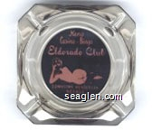 Keno, Casino - Bingo, Eldorado Club, Downtown Henderson, Nevada - Pink on black imprint Glass Ashtray