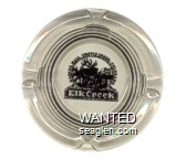 Elk Creek, Gaming Hall, Cripple Creek, Colorado - Black imprint Glass Ashtray