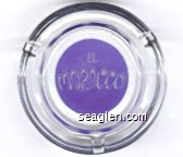 El Morocco - White on blue imprint Glass Ashtray