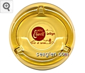 Hotel Elwell, Las Vegas, first at carson - Red imprint Glass Ashtray