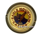 Eagle Mountain Casino - Multicolor imprint Glass Ashtray