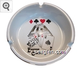Empress Casino - Black and red imprint Porcelain Ashtray