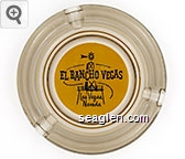 El Rancho Vegas, Las Vegas Nevada - Black on yellow imprint Glass Ashtray