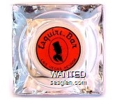 Esquire Bar, Las Vegas, Nevada - Black on orange imprint Glass Ashtray