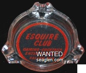 Esquire Club, Gaming - Cocktails, Entertainment, Fallon, Nev. - Red imprint Glass Ashtray