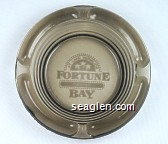 At Lake Vermilion, Fortune Bay Casino - White imprint Glass Ashtray