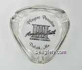 Players Paradise, Fond-du-Luth III Gaming Casino, Duluth, Mn - Black imprint Glass Ashtray