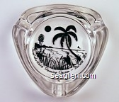 Fond-du-Luth Gaming Casino - Duluth Mn - Black imprint Glass Ashtray