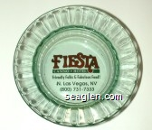 Fiesta, Casino - Hotel, Friendly Folks & Fabulous Food!, N. Las Vegas, NV, (800) 731-7333 - Red and green imprint Glass Ashtray