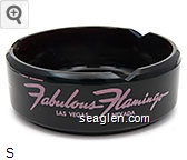 Fabulous Flamingo, Las Vegas, Nevada - Pink imprint Glass Ashtray
