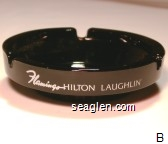 Flamingo Hilton Laughlin - White imprint Glass Ashtray