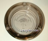 Fabulous Flamingo, Las Vegas, Nevada - White imprint Glass Ashtray