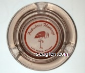 Fabulous Flamingo, Las Vegas, Nevada - Red imprint Glass Ashtray
