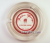 The Fabulous Flamingo, A Hilton Hotel, Las Vegas - Red imprint Glass Ashtray