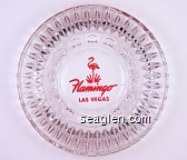 Flamingo, Las Vegas - Pink imprint Glass Ashtray