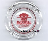 Fort McDowell Casino - Red imprint Glass Ashtray