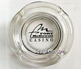 Fort McDowell Casino - Black imprint Glass Ashtray