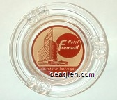 Hotel Fremont, downtown las vegas, nevada - Brown on yellow imprint Glass Ashtray